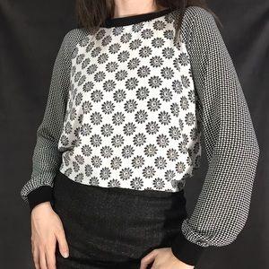 LOFT patterned long sleeve blouse